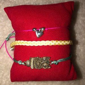 Set of 3 Adjustable Colorful Bracelets